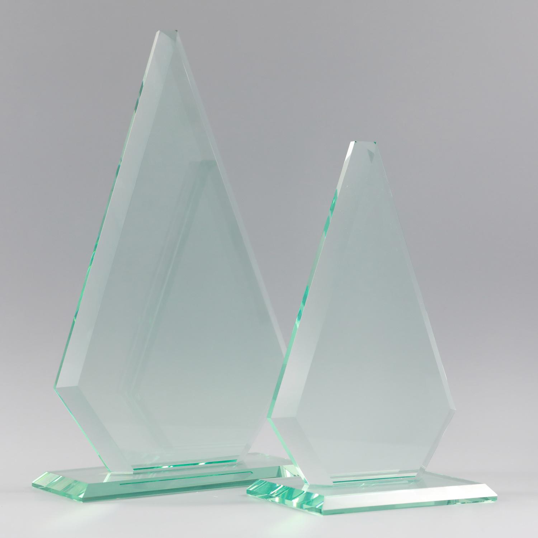 Claro Cristal Anloon Jade Blanco Premio Trofeo de cristal
