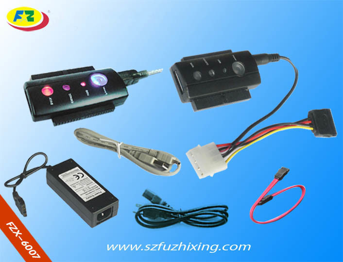 4 LED (FZX6007)를 가진 USB 2.0 SATA/IDE 연결관 케이블