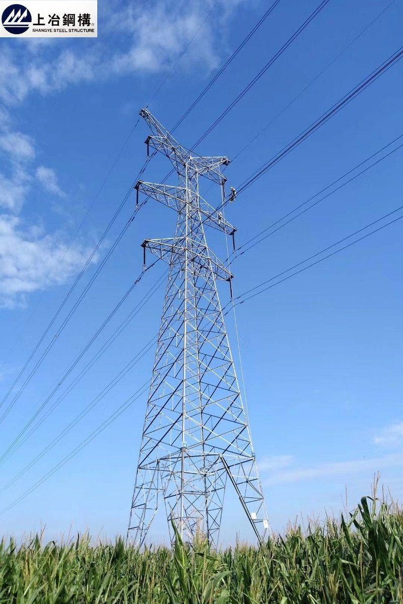 La Chine a galvanisé Acier/THT en ultravide Angle/tour de transmission de puissance du tube en acier
