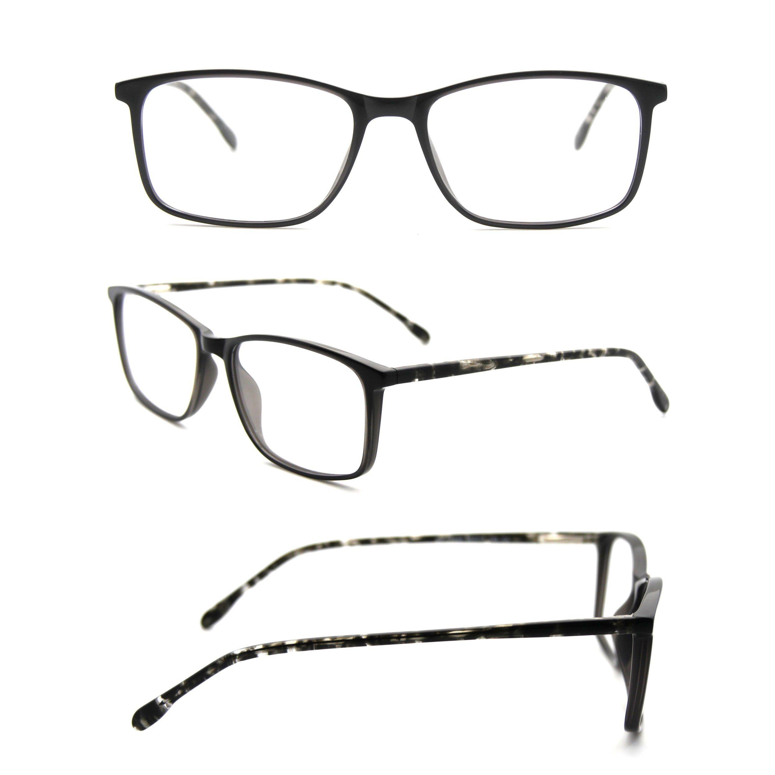Lente transparente de acetato de anteojos para las mujeres con gafas ...