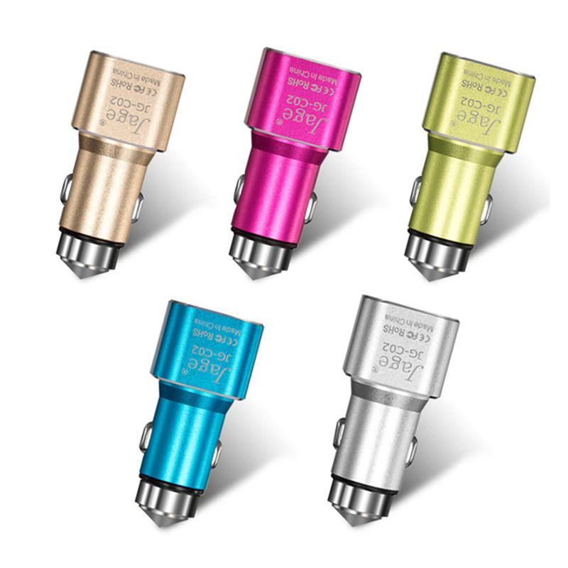 Два порта USB автомобильное зарядное устройство для зарядки устройств Smart в наличии на складе