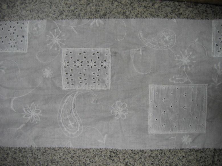 Le coton Voile Emb avec Patchwork