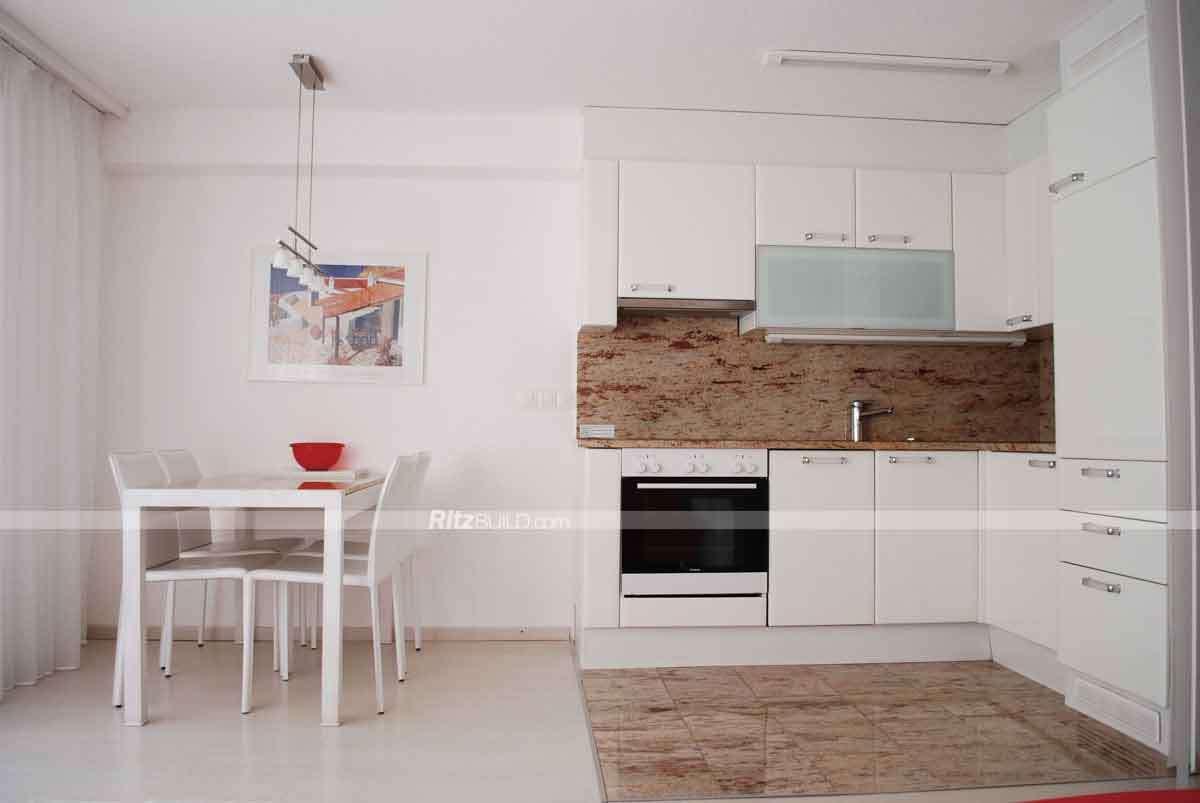 Muebles de cocina kitchen cabinet laminado alto brillo, PVC kitchen ...