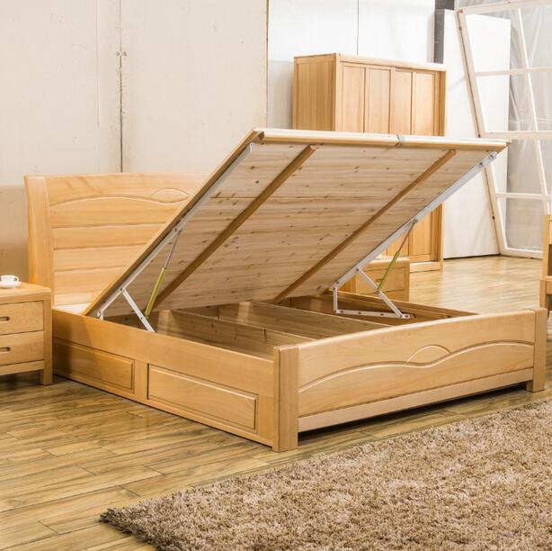 Lit Double Moderne En Bois : Lit double moderne en bois solides lits m photo