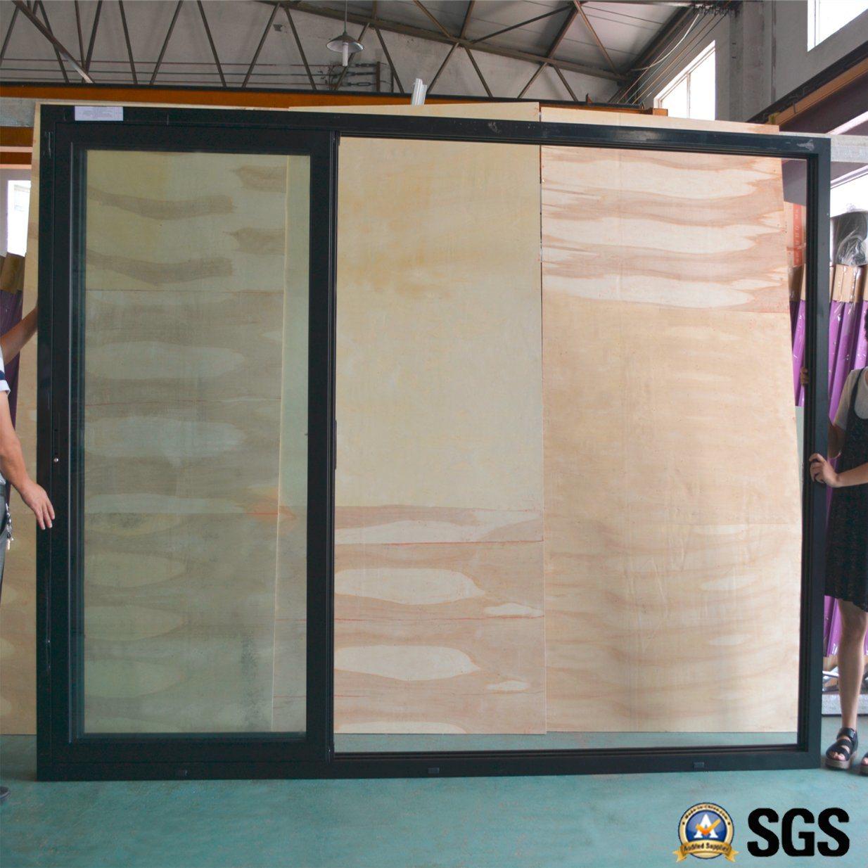 Puerta deslizante del marco de aluminio de 3 pistas, ventana ...