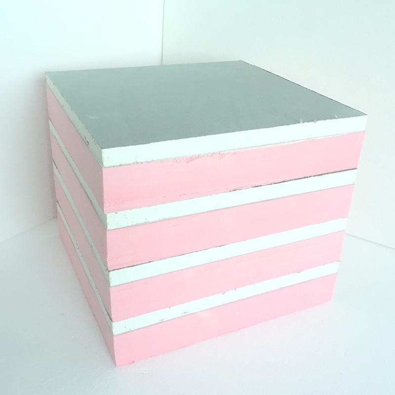 Fuda panneaux composites rose de grade B1 (XPS 30mm d'épaisseur, le plâtre Conseil 12mm épais)