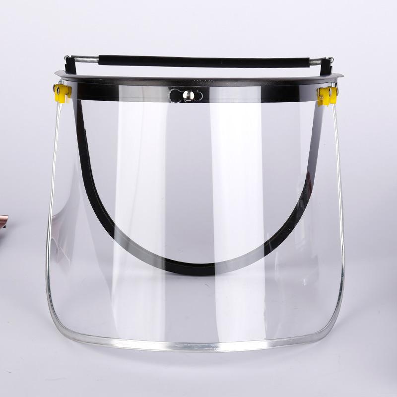 O PVC/suporte de PC de protetor de rosto para Helmet-Style Splash-Proof Rosto Tela Todas as orlas de metal de alumínio rosto TELA