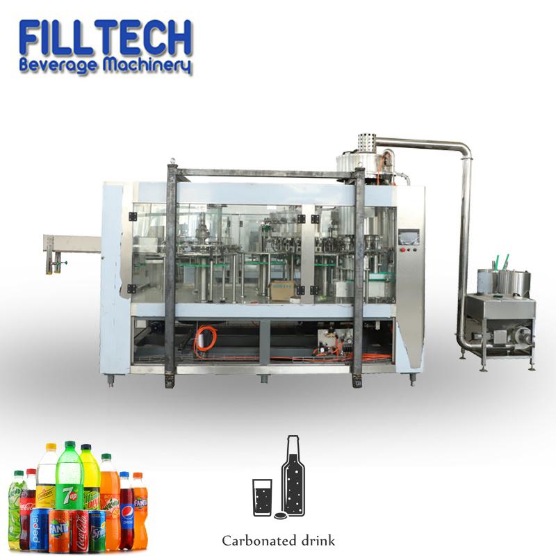 フルオートマチックのガス水飲み物圧力満ちるびん詰めにするパッキング機械