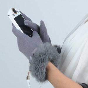 De Winter van vrouwen Gloves de Aangepaste Handschoenen van de Wol van Dame Fashion Sheep Wool het Touch Scherm