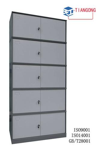 Round Featheredge Kd armário de arquivos de metal, cinco camadas cabinet