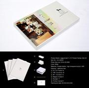 """Leggyhorse8"""" X 10 """" cadre photo en acrylique transparent souple, avec module magique, trames détachable de changer facilement la forme, couleur blanc/noir, un jeu de 4frame"""