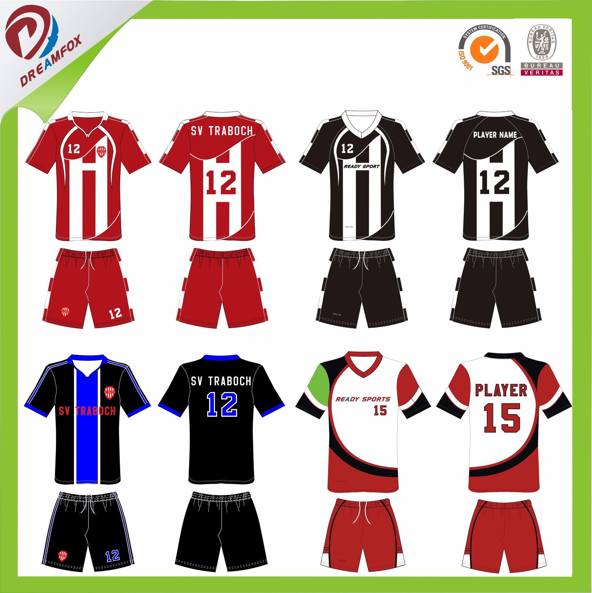 5fa0a5fcd7d30 Ropa deportiva de fútbol de la fábrica de cualquier tamaño uniforme para  las Mujeres Hombres niños