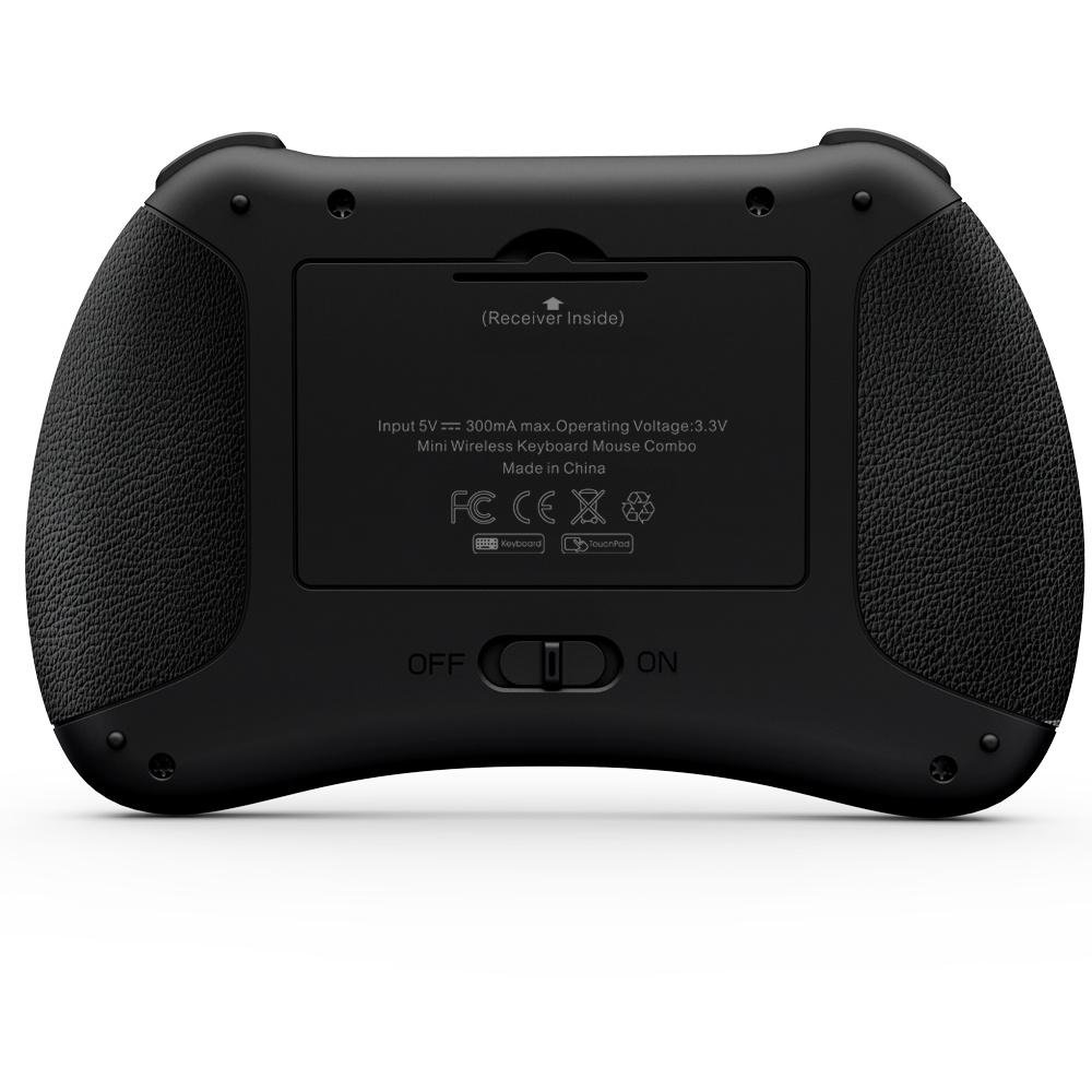 Rkm I8+ Беспроводная клавиатура с сенсорной панели для мыши, лучший партнер для телевизора в салоне, Smart TV, ПК и т.д.