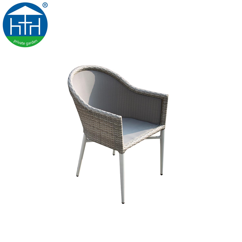 Novo design do conjunto de jantar ao ar livre mobiliário de jardim com estrutura de alumínio As medulas mesa e cadeira de vime