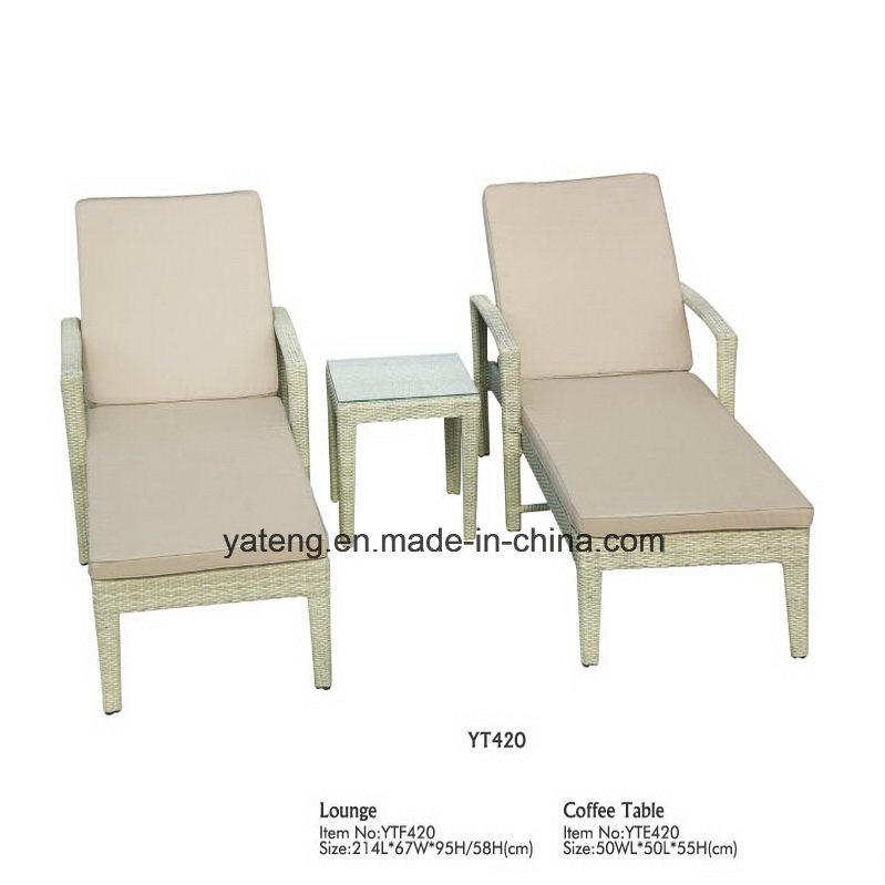 Muebles de mimbre mimbre al aire libre baratos cama solar (YT420 ...