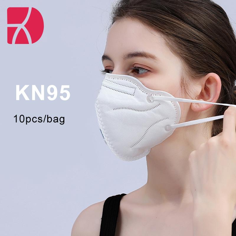 Alta qualidade de Camada 4 KN95 FFP2 Aprovado pela CE Earloop máscara descartável Dobrável Máscara contra Poeira