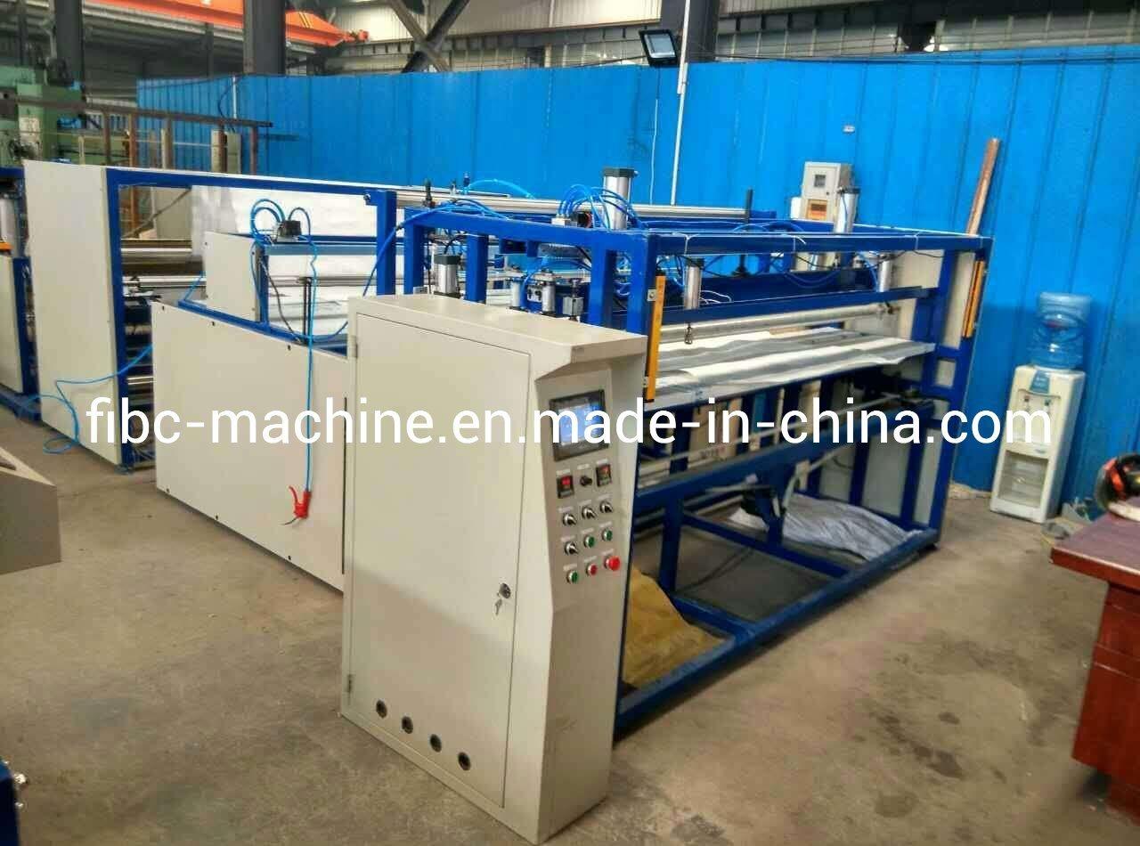 자동적인 FIBC 엄청나게 큰 기계를 만드는 큰 자루를 위한 콘테이너에 의하여 길쌈되는 부대 직물 절단기