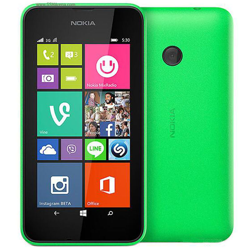 Commerce de gros déverrouillé Lumia 530 téléphone mobile téléphone cellulaire