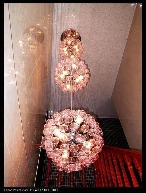250cm de Lange Hangende Lamp met 3 lagen van de Bal van het Glas (MD8820-18)