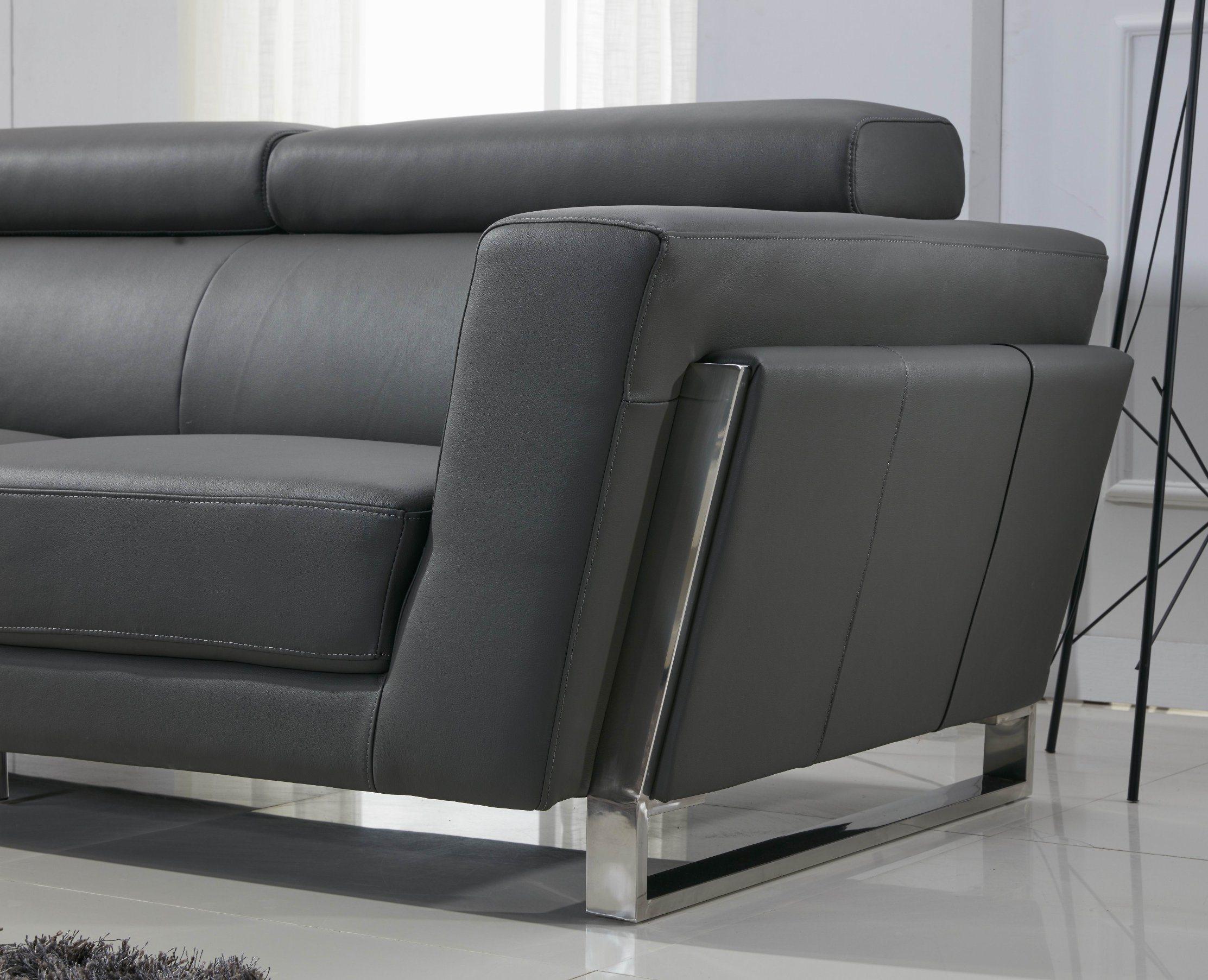 Lebensstil-Edelstahl-Leder-Sofa 3 2 1 Seater foto auf de ...