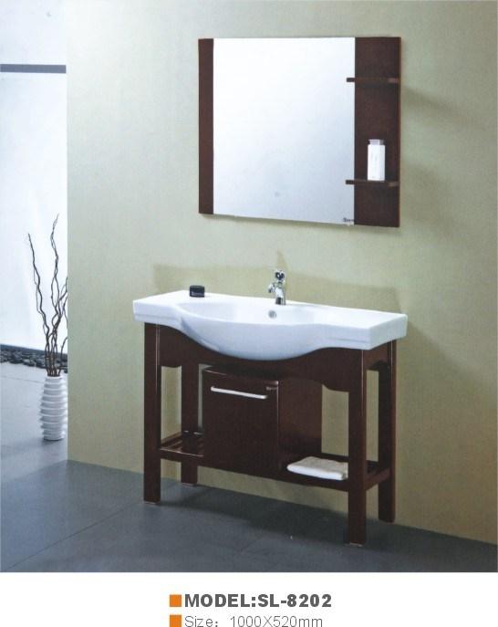 Armário de casa de banho de carvalho (SL-8202)