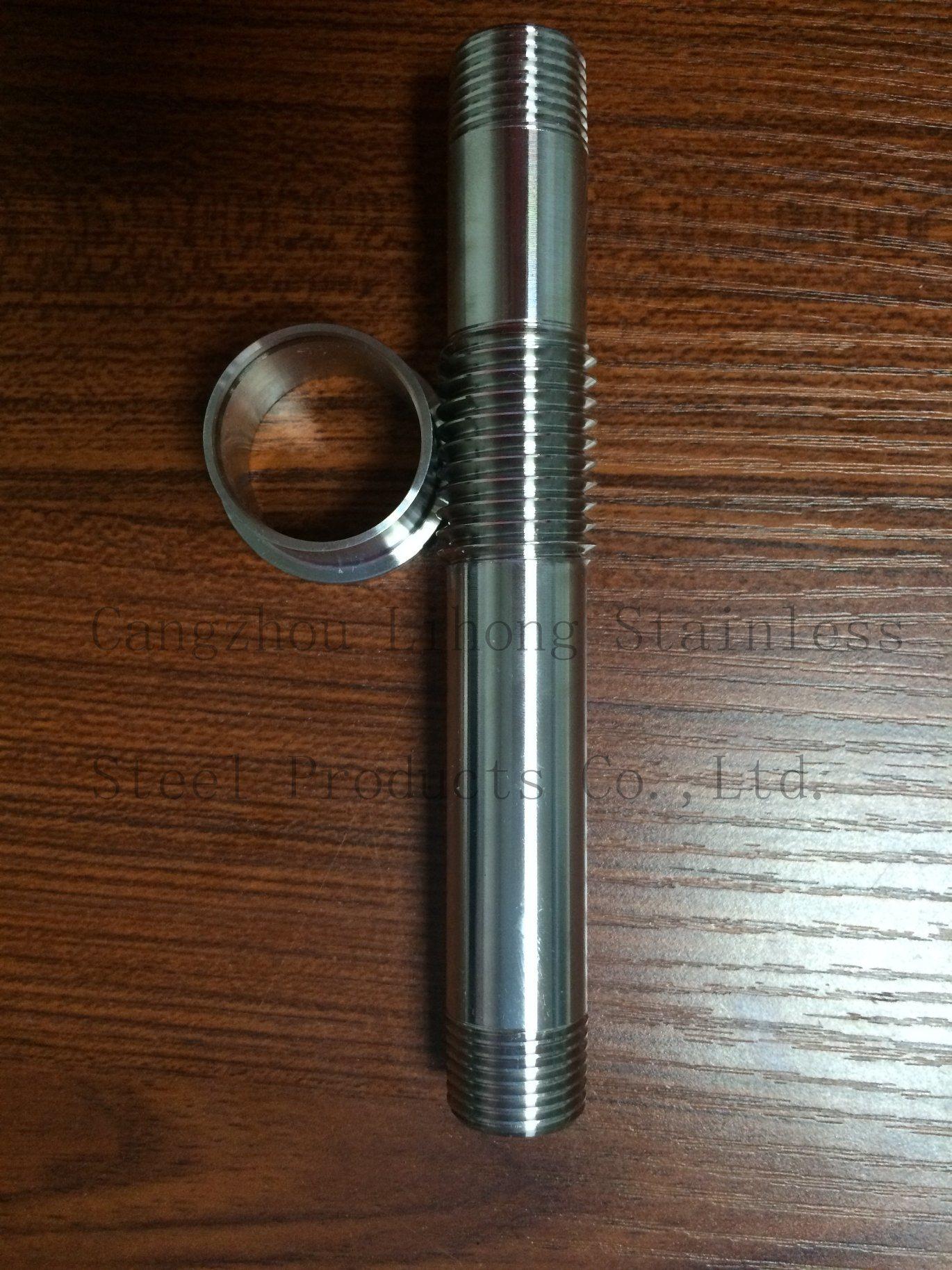 Nipplo cilindrico lungo con filettatura G in acciaio inox