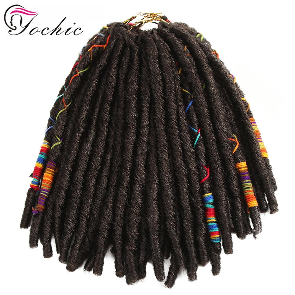 かぎ針編みの毛の黒のDreadlocksの18インチ24のルート100g/Packを編む総合的なかぎ針編みのブレードの毛のハバナのマンボののどLocs