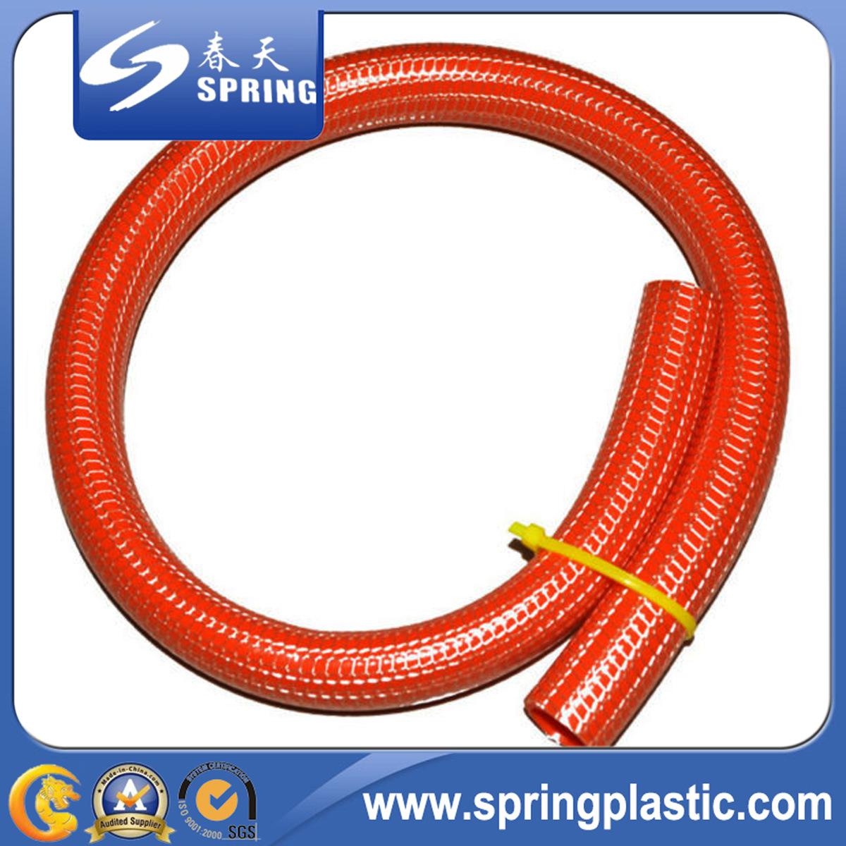 PVC フレキシブル繊維ニット強化ウォーターガーデンホース 1 インチ