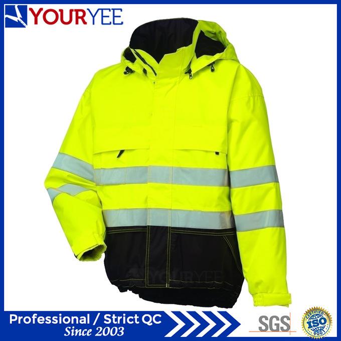 Asequible hi vis lluvia chaqueta con cinta reflectante 3m for Cinta reflectante 3m