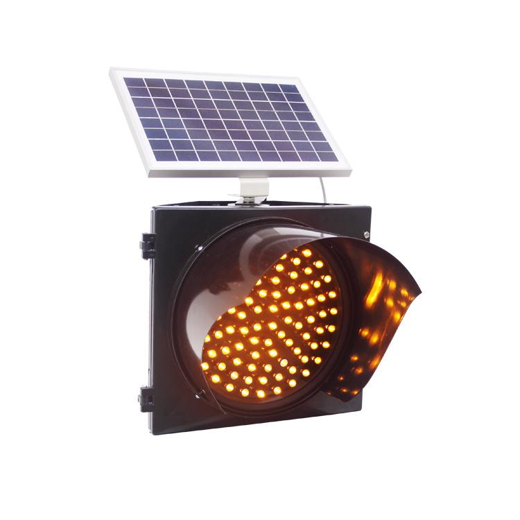 太陽動力を与えられた黄色いこはく色の減速点滅LEDのトラフィックの警報灯/交通安全の警報灯