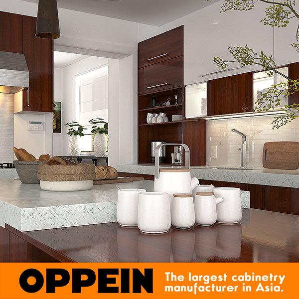 Foto de La moderna cocina Modular de melamina madera marrón, armario ...