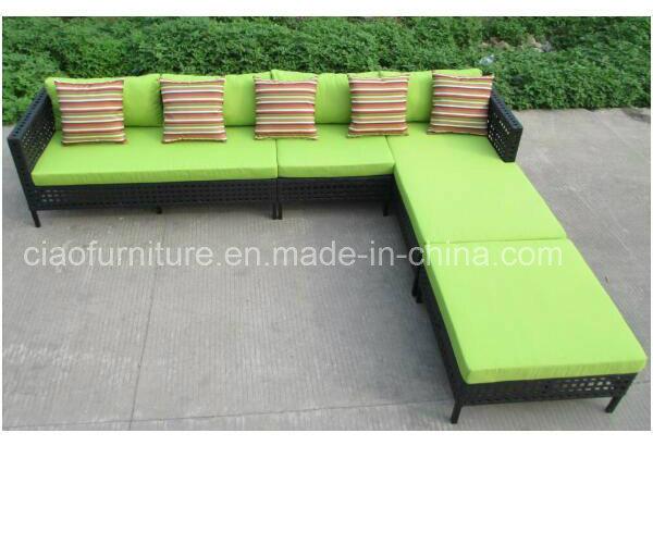 Jardín de estilo turco muebles de ratán Sofá en forma de L – Jardín ...
