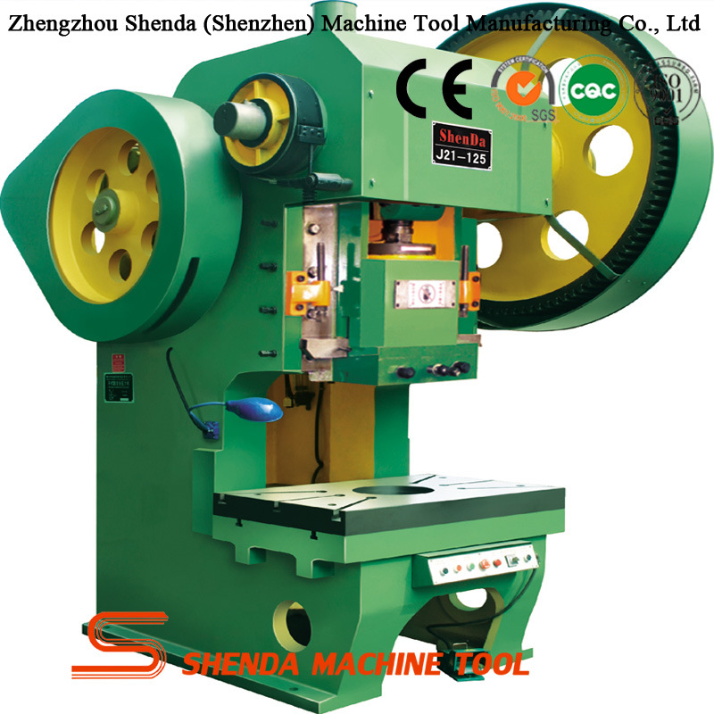J21s Series 125 Ton Garganta profunda Punch Press