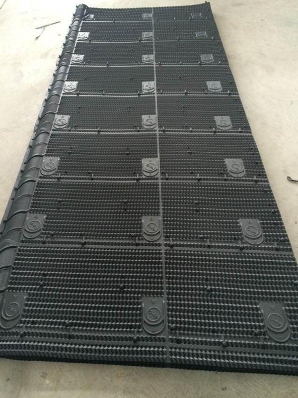Vierge tour de refroidissement à débit transversal en PVC de remplissage, Pack de remplissage CCE Remplir avec de 1300mm/1330mm de largeur