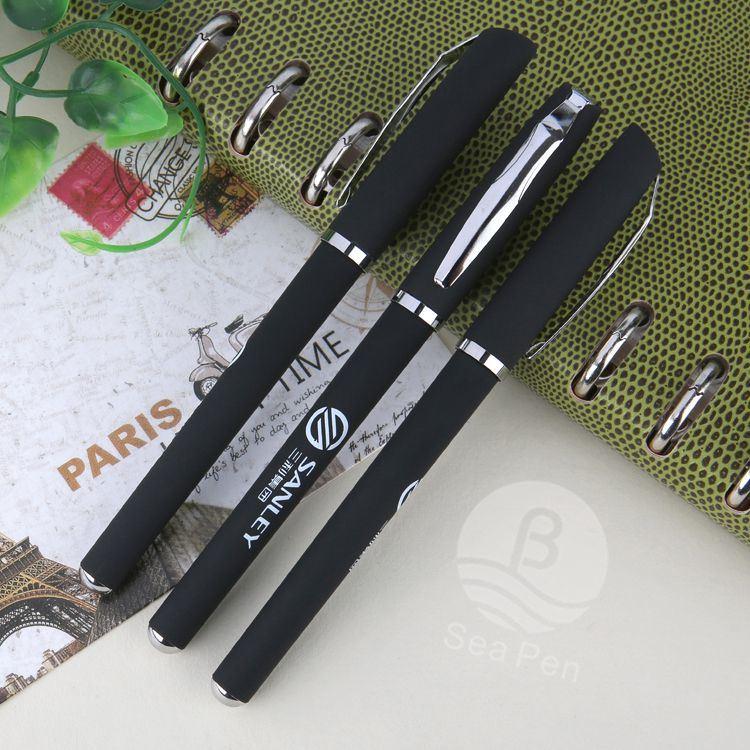 Gel de promotion de gros stylo plume d'encre gel de couleur noir