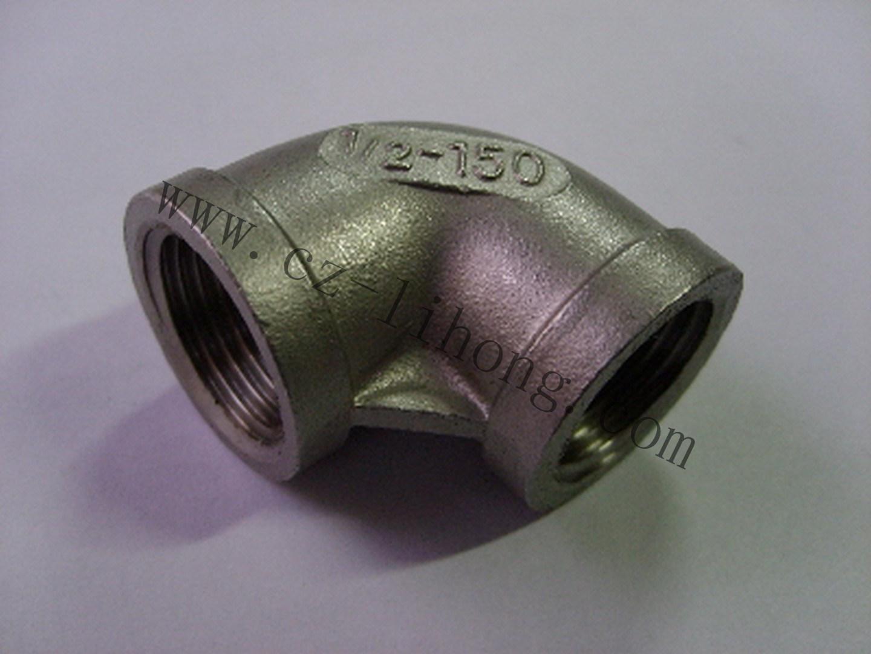 """1-1/2"""" acciaio inox gomito a 90 gradi F/F."""