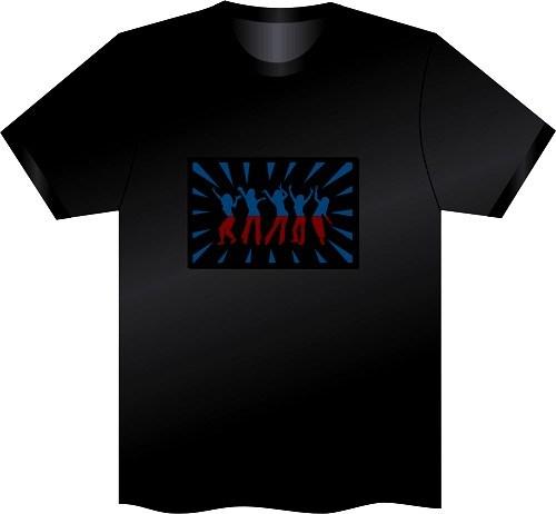 EL-Verkleidungs-blinkendes Art- und Weiset-shirt