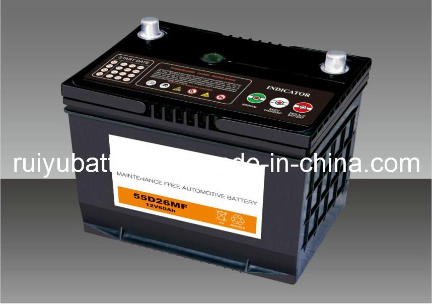 12V 60AH автомобильной аккумуляторной батареи