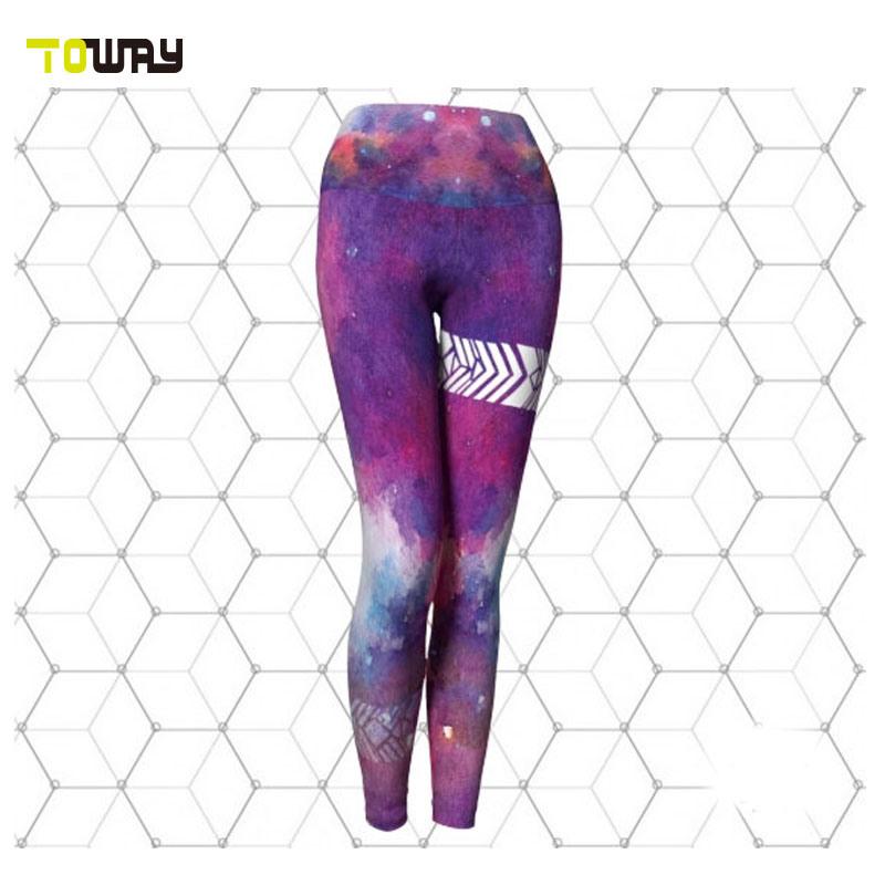 Sublimación hecho personalizado pantalones de yoga Wholesale