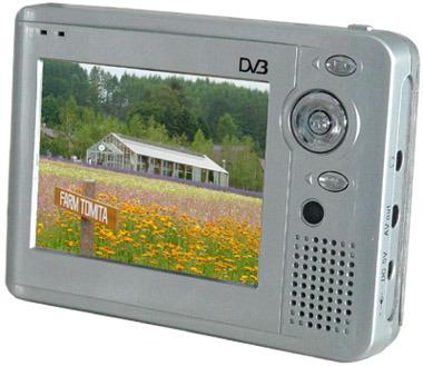 TFT LCD couleur 3,5 pouces de soutien de la TVN DAB (WT-DVB-351)