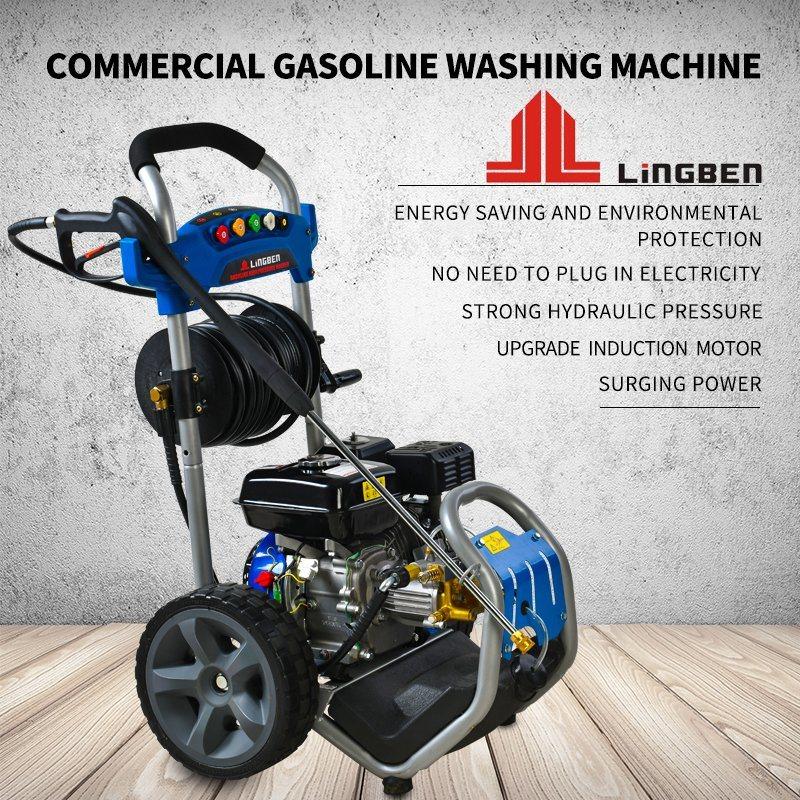 TUV Motor a gasolina gasolina elétrica de jacto de água a alta pressão aluguer de máquina de lavar roupa Limpeza do Lavador