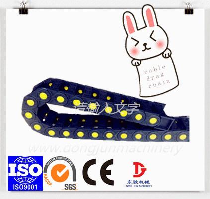 45 Series de la cadena de la bandeja de cable de plástico CNC