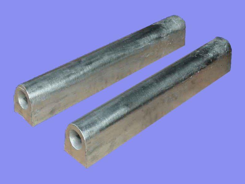 Tipo D Ánodos de sacrificio de magnesio para Anti-Corrosive estándar ASTM