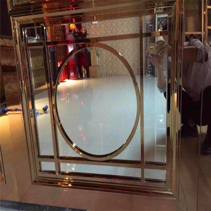 Foto de Marco de visualización de acero inoxidable y espejo de ...