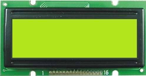 16x2特性LCDのパネル(BN1601A)
