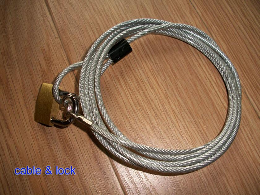 Laptop Lock & Vorhängeschloss, Kabel + Vorhängeschloss (AL2000 ...