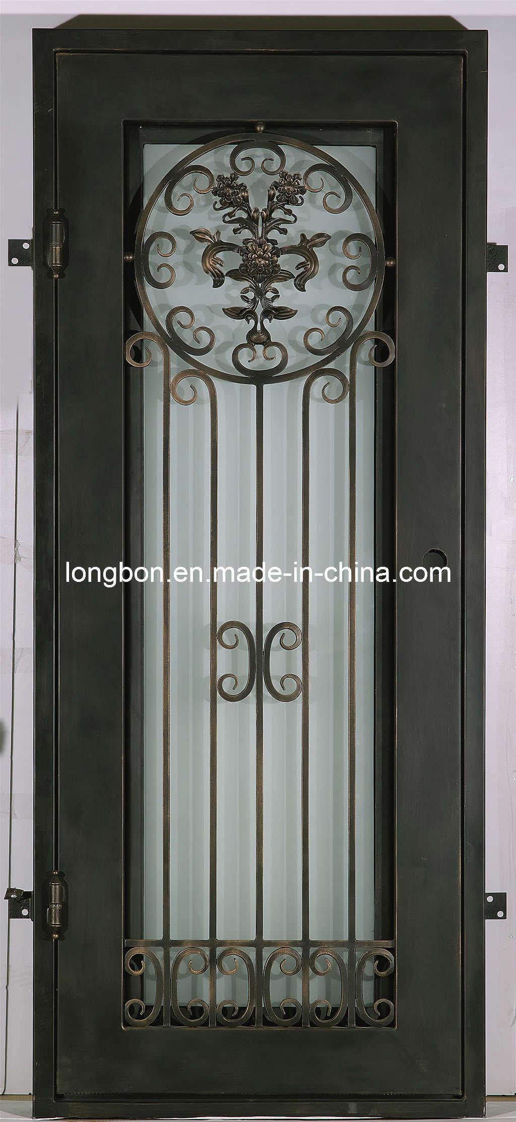 Puerta de entrada moderna del hierro labrado 2012 lb i d for Modelo de puerta principal de metal