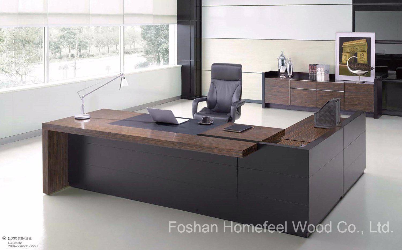Table de bureau moderne de luxe élégant boss bureau bureau