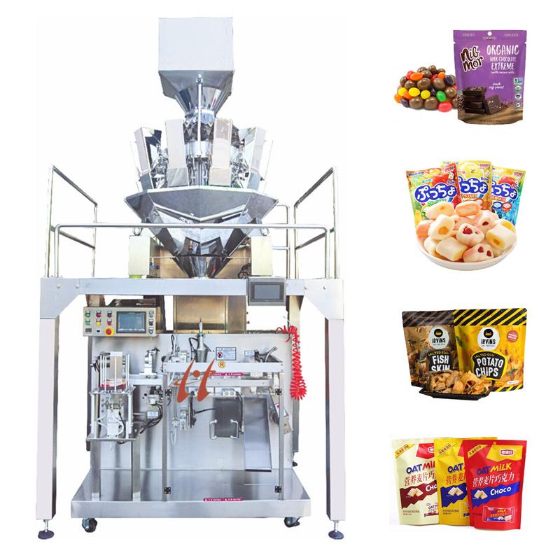 Chips snacks Premiade doypack zak Automatische vulling Sealing Packing machine Machines