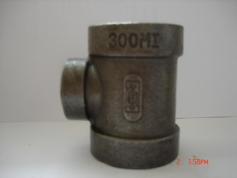 La Fonte malléable Fitting-Tee du tuyau de classe 300